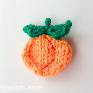 Peach Knitting Pattern