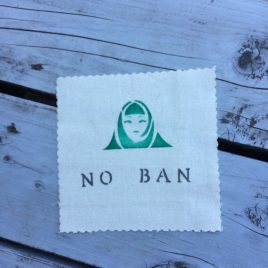 No Muslim Ban patch, canvas patch for your backpack or jacket.