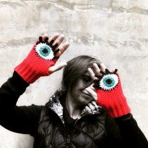 Custom Evil Eye Gloves