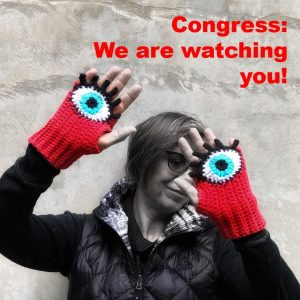 "March for our lives – protest poster 7""x11"" laminated ""Congress we are watching you"""