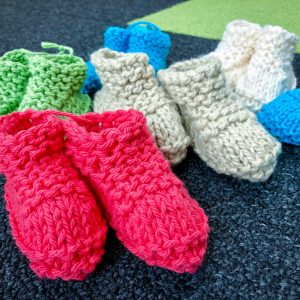 Handknit Baby Slippers