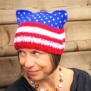 Patriotic Pussy Hat – made to order