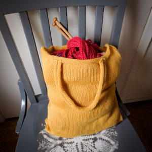 Knit market bag
