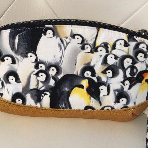 Penguin clutch purse