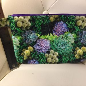 Succulent clutch purse