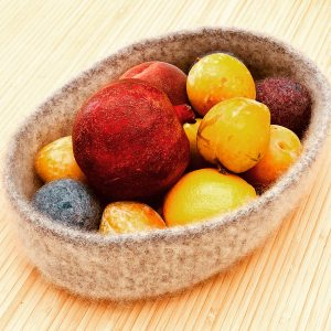 Felted fruit basket