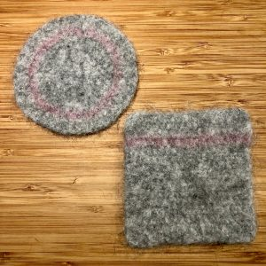 Elegant, Lightweight Felted Coasters
